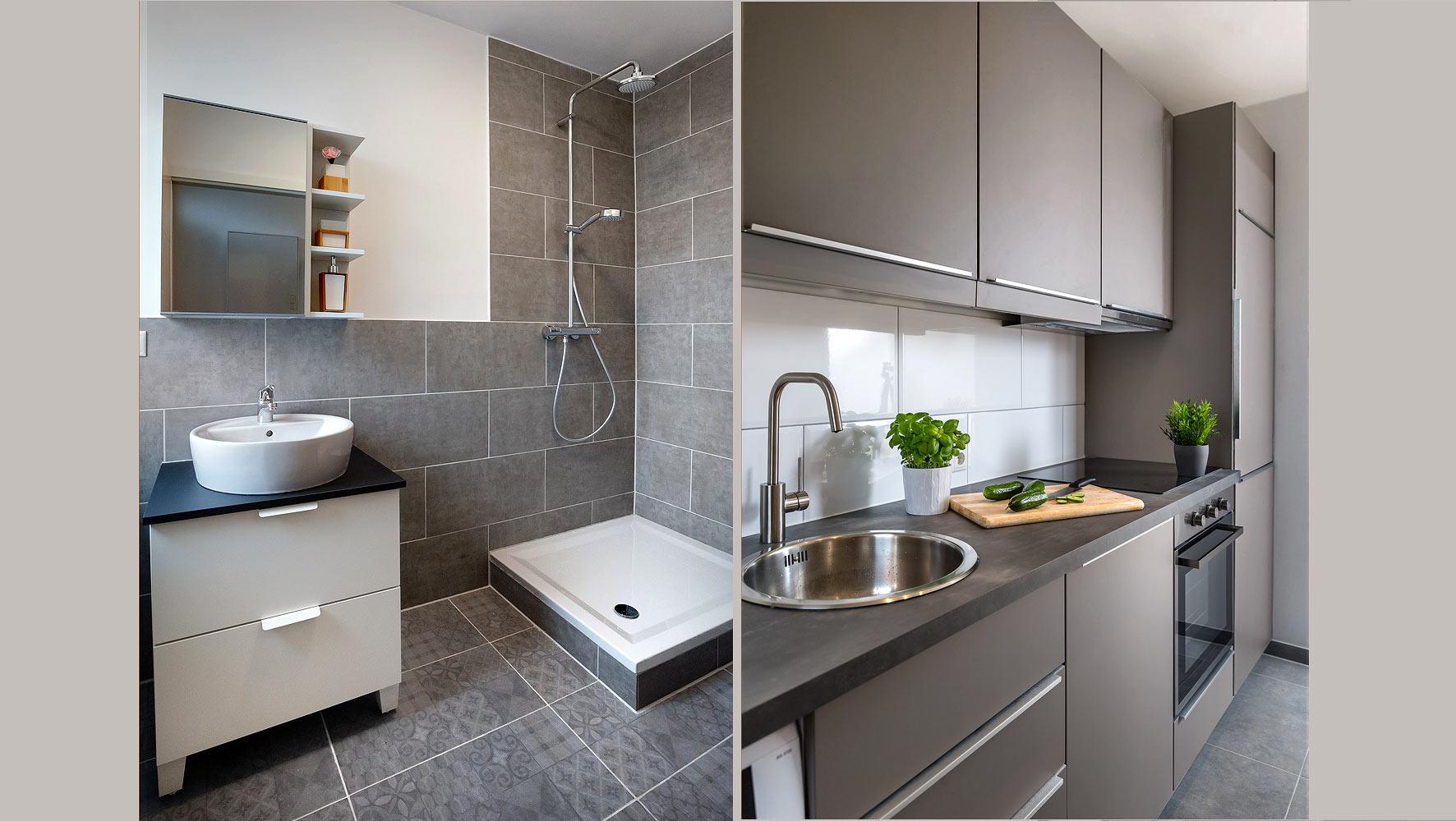 fotos ferienwohnung bad und küche
